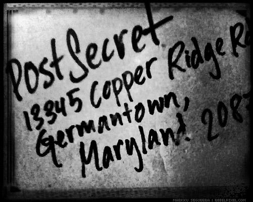 PostSecret book cover.