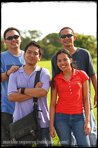 Back: Markku, Lloyd. Front: Sherwin, Joy. (Photo by Joey)