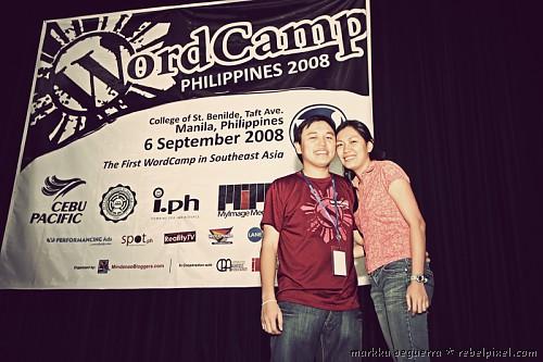 Markku & Hana at WordCamp Philippines 2008.