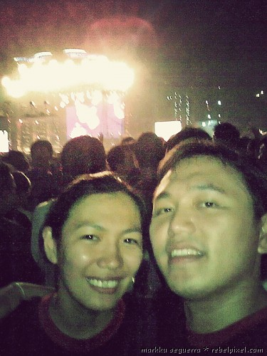 Markku & Hana at the Eraserheads reunion concert.