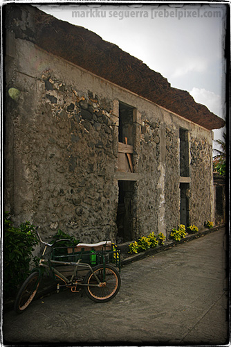 Batanes stone houses built by the Ivatans.