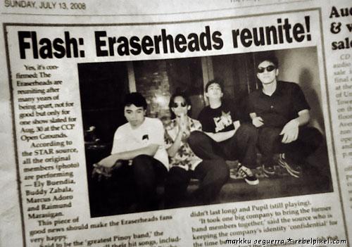 Eraserheads reunion concert.