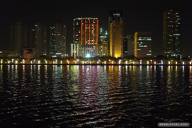 Manila skyline at night.