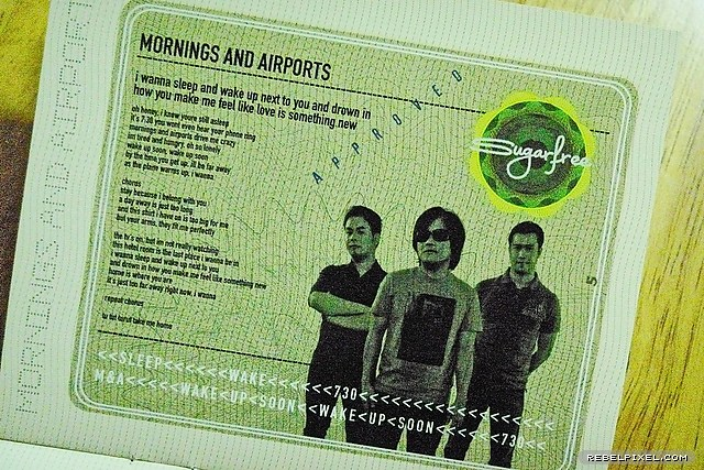 A page from the album insert.