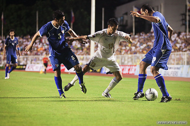 Caligdong's non–stop challenge even when dispossessed proved fruitful, as it led to the Azkals' first goal.